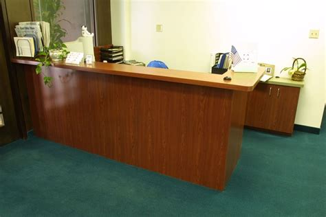 Custom Reception Desk Made Reception Desks By Custom Design Wood Products Custommade