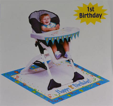 High Chair Decorations 1st Birthday by Paper Boys Blue 1st Birthday High Chair