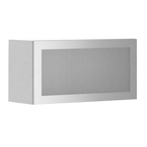 fabritec 30x15x12 5 in geneva wall bridge cabinet with