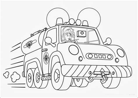 free fireman sam and elvis coloring pages