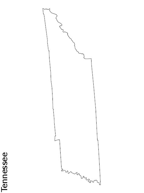 Tennessee Outline Map by View The Blank State Outline Maps Theusaonline