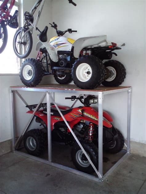 Atv Garage Storage Rack by Any Interesting Ways To Store Atvs Dirt Bikes Page 2