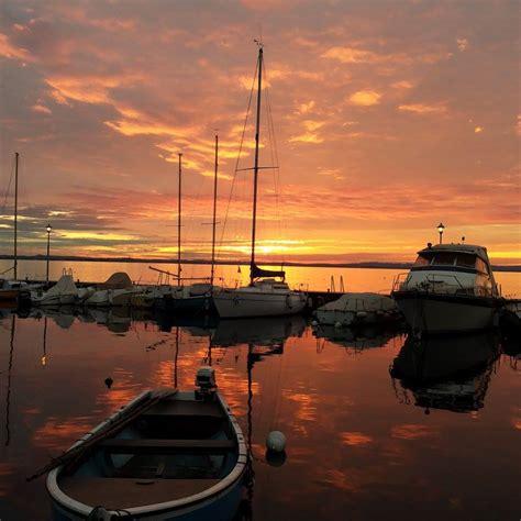 sul lago di garda tramonto sul lago di garda garda outdoors il magazine