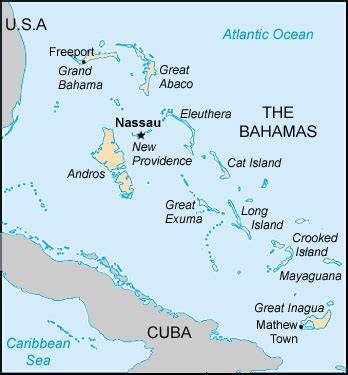 map bahamas centre  intercultural learning