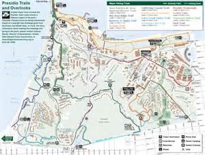 presidio trail and overlook map presidio san francisco