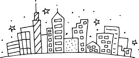 city skyline clip art