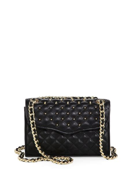 Minkoff Mini Quilted Affair by Minkoff Mini Affair Studded Quilted Leather Shoulder Bag In Black Lyst