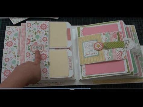 tutorial scrapbook youtube bundle of joy baby girl mini album youtube