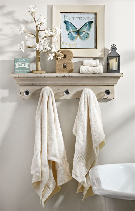 Bathroom Shelves With Hooks How To Decorate Using A Wall Shelf With Hooks My Kirklands