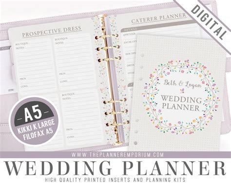 Wedding Planner Kit by A5 Ultimate Wedding Planner Organizer Kit Instant