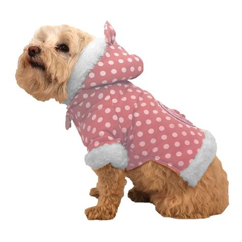 Couture At Its Bestaepink Polka by Pet Small Pink Polka Dot Couture Bow Hoodie