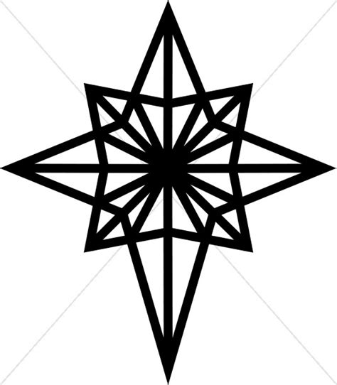 black 8 sided star clipart collection