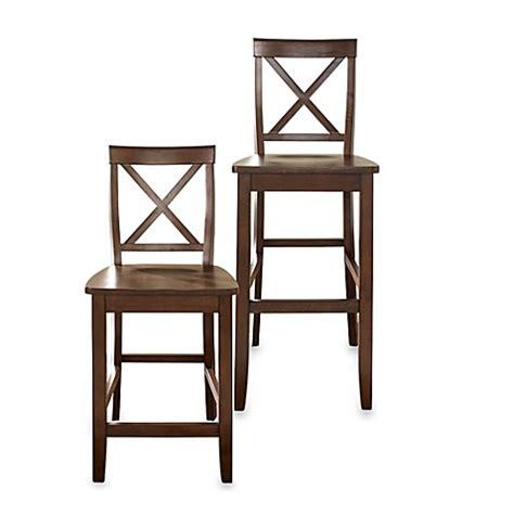 Crosley X Back Bar Stool crosley x back bar stool set of 2 bed bath beyond