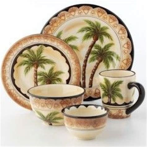 dinnerware palm tree dinnerware sets pfaltzgraff palm