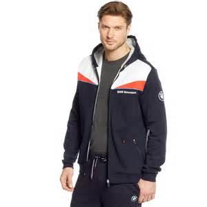 Hooded Sweat Jacket Bmw Hooded Sweat Jacket In Blue For Lyst