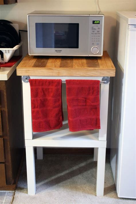 microwave stand with hutch ikea make more counter space with an ikea hack microwave