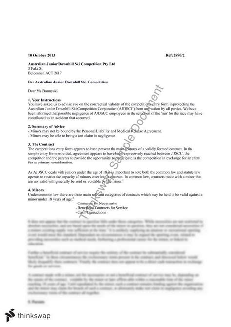 Release Letter From Deakin letter of advice 6594 contract thinkswap