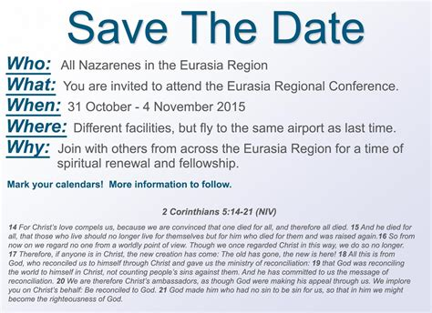 Save The Date Eurasia Regional Conference Conference Save The Date Email Template