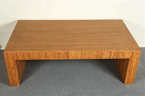 Minimalist Coffee Table Simple Minimalist Coffee Table With Striated Wood Veneer At 1stdibs