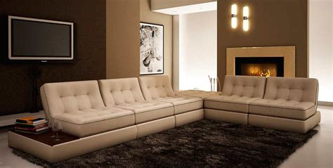 Beige Sectional Sofa Beige Leather Sectional Sofa Vg055 Leather Sectionals