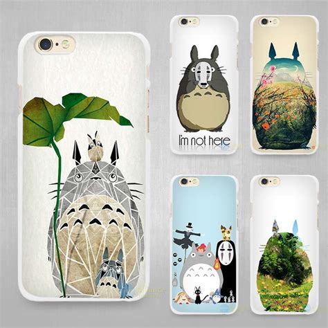 Totoro Poster Green Iphone 6 7 5s Oppo F1s Redmi S6 Vivo Lg My Totoro Studio Ghibli White Cell Phone