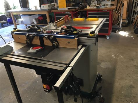 grizzly table saw fence upgrade 10 quot hybrid table saw with t shaped fence grizzly industrial