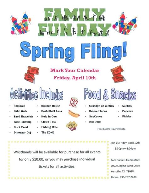 school spring fling flyer template google search