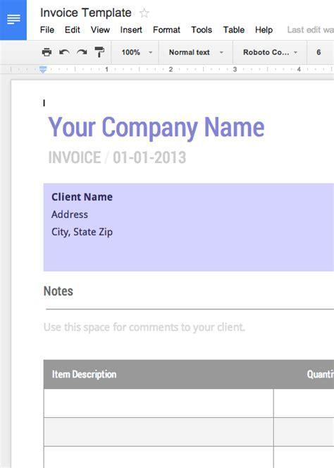 4 free invoice template google docs short paid invoice