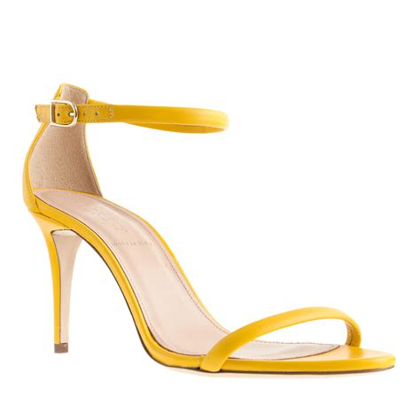 yellow high heel sandals yellow strappy high heel sandals is heel