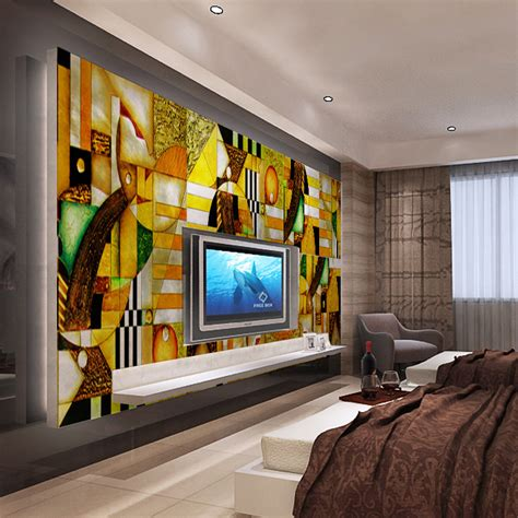 abstract wallpaper bedroom 1x3m fashion abstract wallpaper art wallpaper oil painting