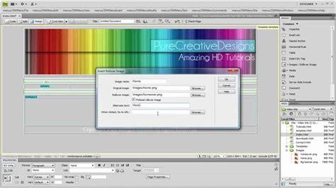 tutorial dreamweaver cs5 lengkap dreamweaver cs4 or cs5 tutorial how to create rollover