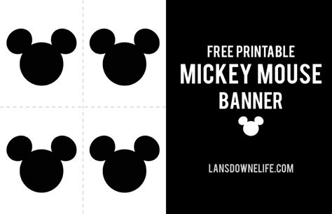 blue white black mickey mouse post card template printable mickey mouse banner