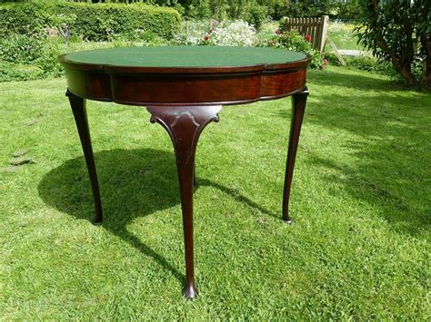 mahogany flip top card table antiques atlas