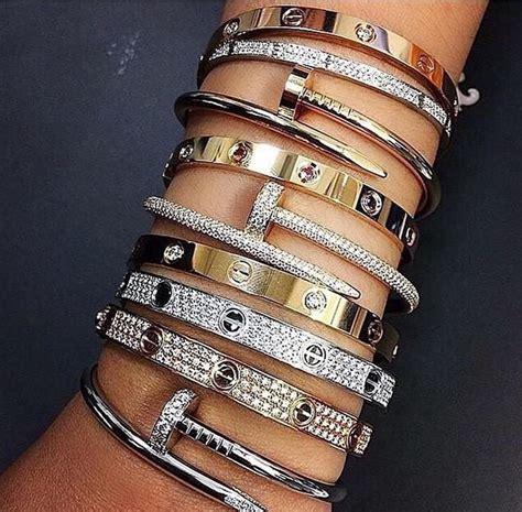 Arm Bangles And Bracelets by Best 25 Cartier Bracelet Ideas On