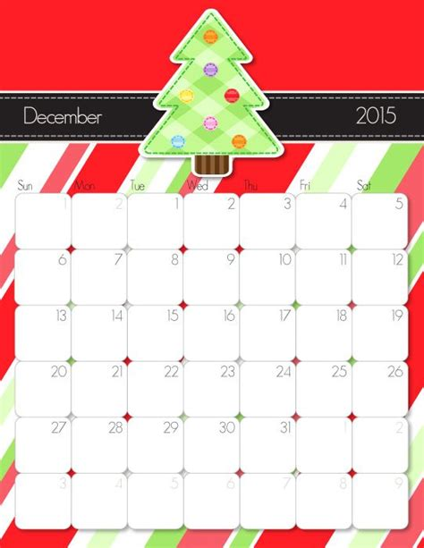 free printable december 2015 calendar cute cute and crafty 2015 printable calendar family command