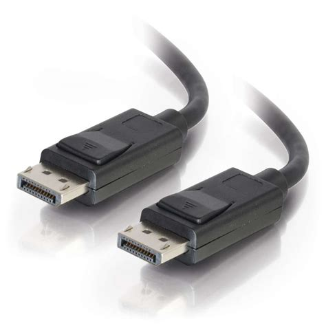 displayport to tv cables to go displayport cable with latches 10 ft m m