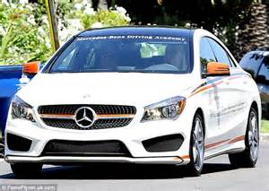 Mercedes Driving Lessons Fanning Takes Driving Lessons In Luxury Mercedes