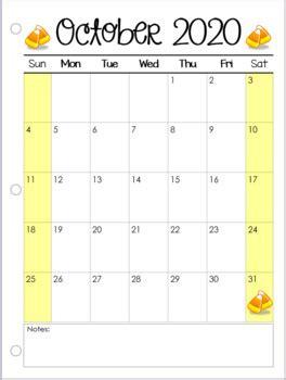 calendar printable  editable  nylas crafty teaching