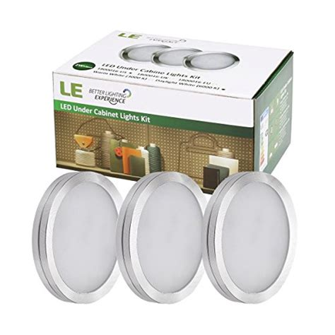 led cabinet lighting 3000k le 174 led cabinet lighting kit 510lm puck lights