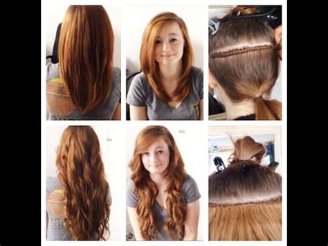 hair extensions hairstyles tutorial track weave hair extensions tutorial quick simple steps