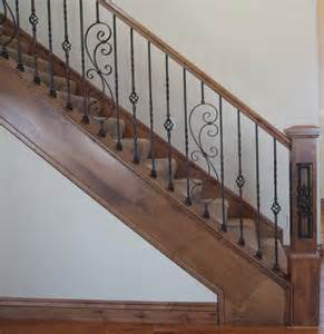 Banister For Sale Wood Railing With Wrought Iron Balusters Traditional