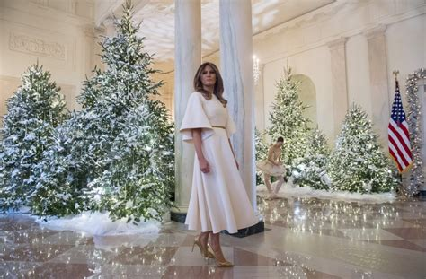 trump white house decoration she s like an angel melania trump stuns in dior for