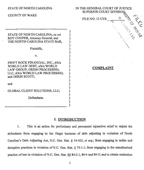 Ncstate Mba Reference Form by World Debt Global Client Solutions And Others Sued In