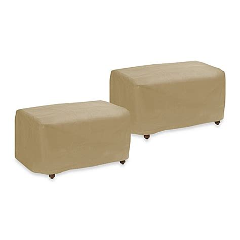 and ottoman covers protective covers by adco ottoman cover bed bath beyond