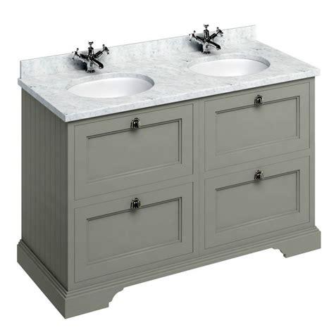 Burlington 130 Double Vanity Unit With Four Drawers Uk Vanity Units For Bathroom Uk