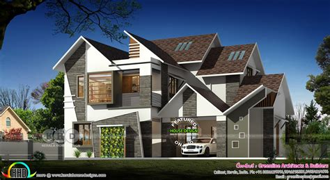 2490 sq ft sloped roof single floor home design veeduonline 3333 square feet modern sloping roof house kerala home