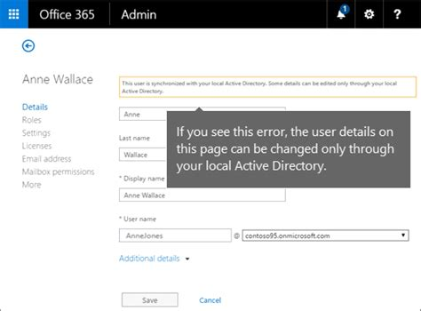 Office 365 Global Address List Change A User Name And Email Address In Office 365