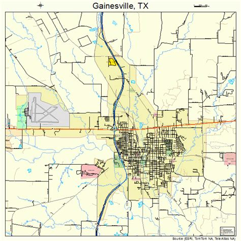 map of gainesville texas gainesville texas map 4827984