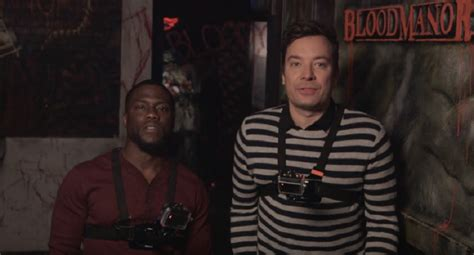 kevin hart haunted house jimmy fallon and kevin hart went to a haunted house and