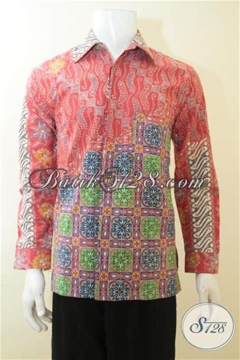Batik Cap Laki Laki Lengan Panjang kemeja batik lengan panjang trendy dengan motif unik